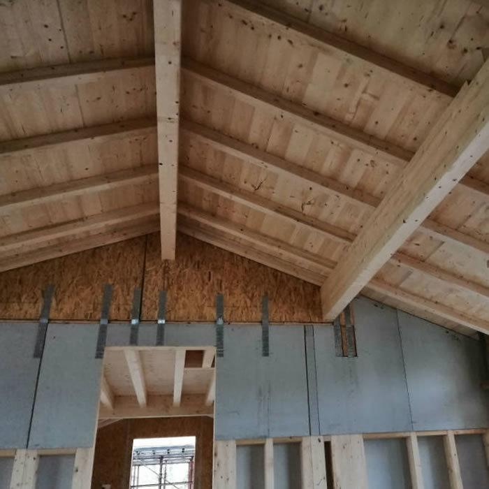 travi in legno, casa in legno, bioedilizia a verona