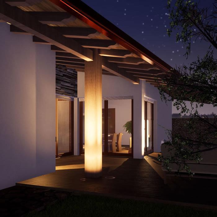 bioedilizia con lighting design