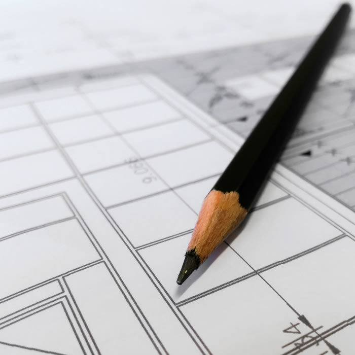 matita su progettazione architettonica