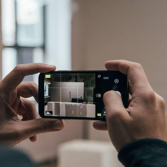scatto fotografico con smartphone di ultima generazione