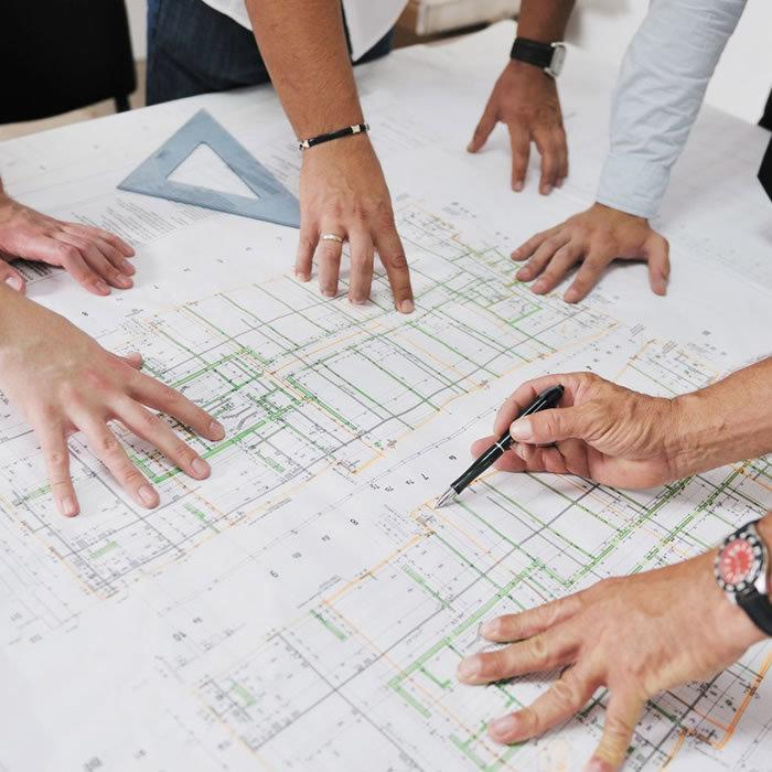 architetti al lavoro, studio di fattibilità