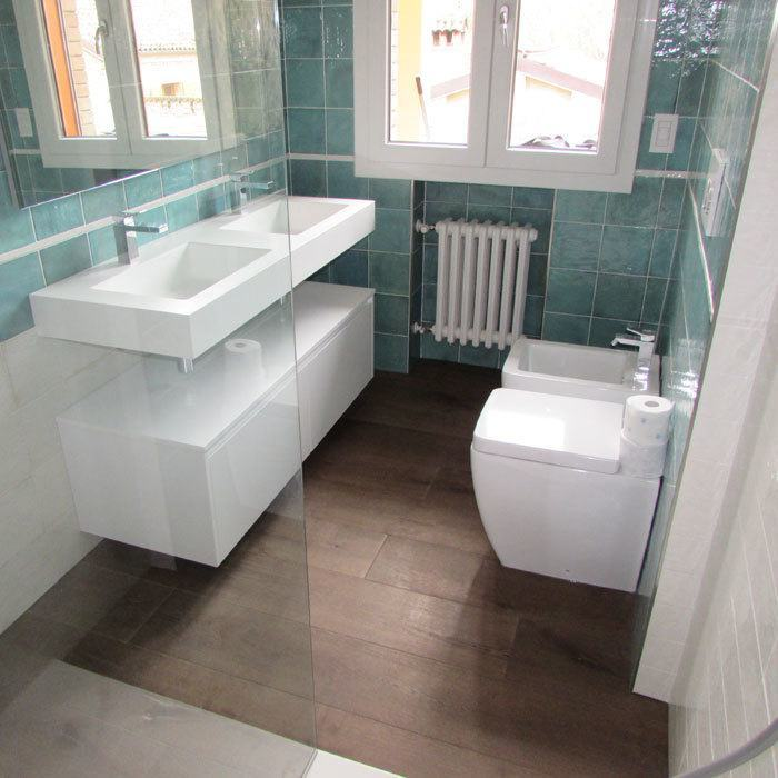 usare il parquet nel bagno